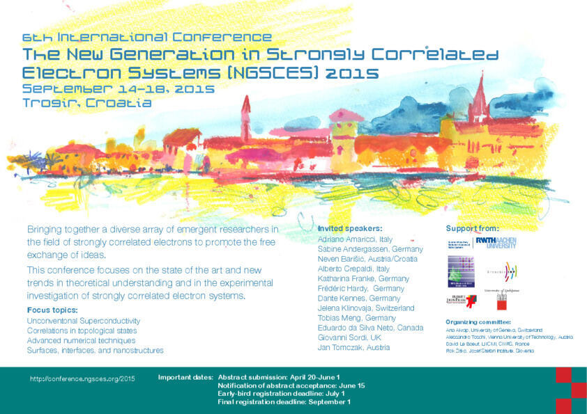 Poster NGSCES Conference 2015